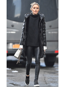 Olivia Palermo - Black Winter Outfit