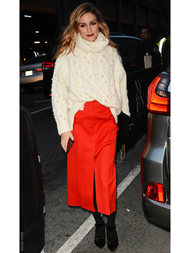 Olivia Palermo - Roter Rock