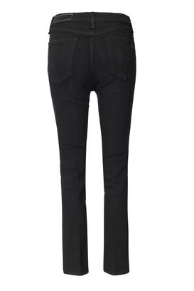 Jeans High Rise Straight Schwarz