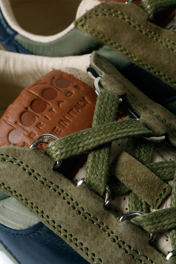 Sneakers im Material-Mix Olive/Beige
