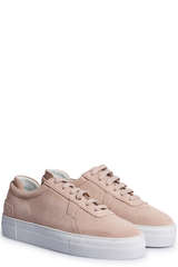 Sneakers Platform aus Veloursleder Soft Pink - AXEL ARIGATO