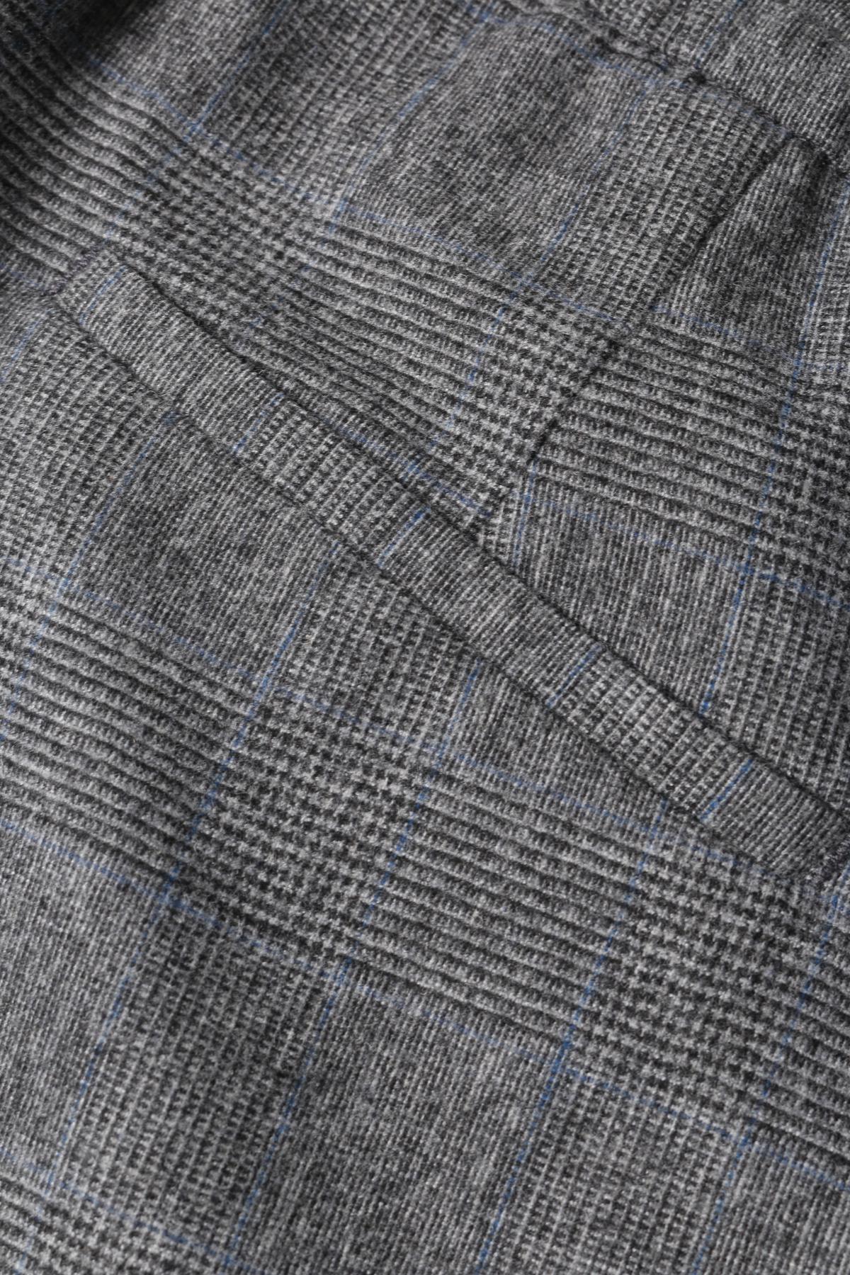 wollhose chasy mit glencheck muster grau - Glencheck Muster