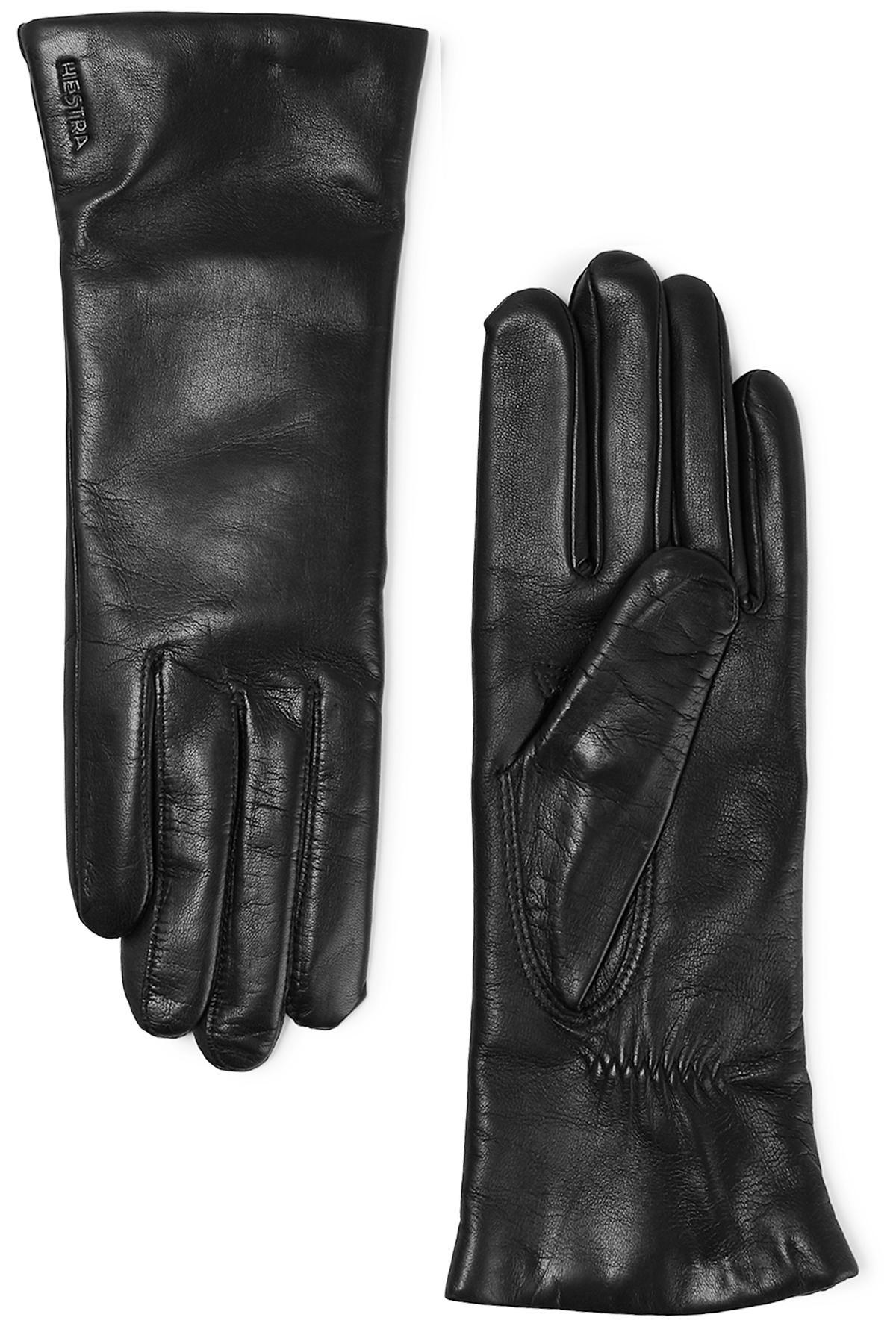 Gloves By Hestra In Black Leather Glove Elisabeth