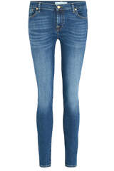 Low Rise Skinny Jeans Bair Duchess Mittelblau - 7 FOR ALL MANKIND