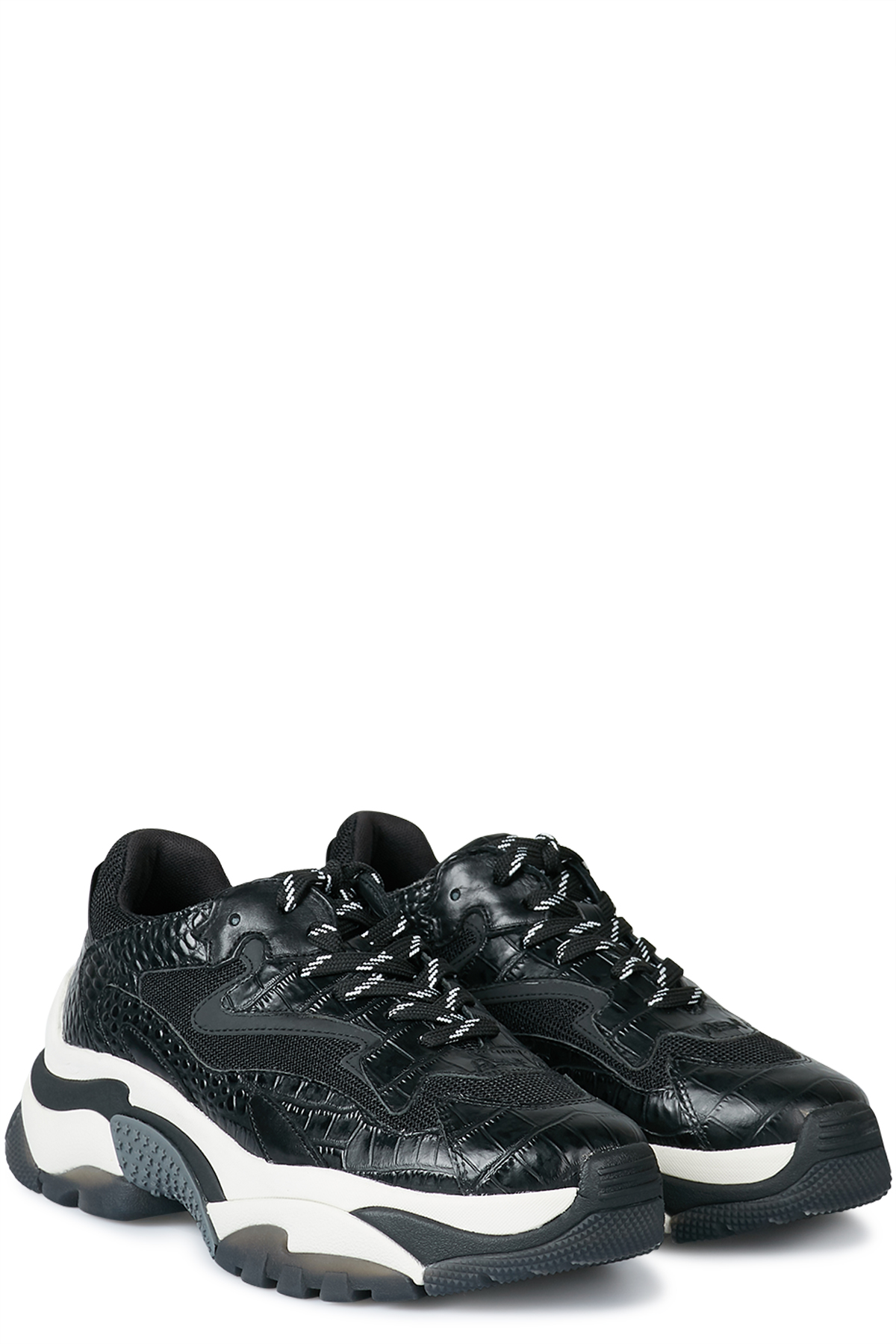 Sneakers Addict Black LeatherBlack Mesh