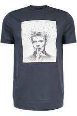 T-Shirt Shhh mit Art-Print - LIMITATO
