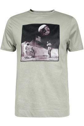 T-Shirt Man on the Moon mit Art-Print
