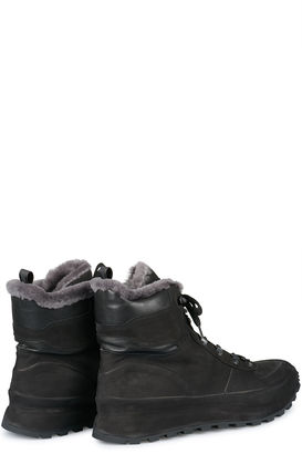 High-Top-Sneakers Frontiere 4 mit Shearling-Futter