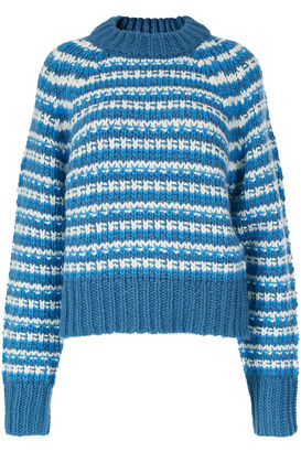 Grobstrick-Pullover mit Wolle