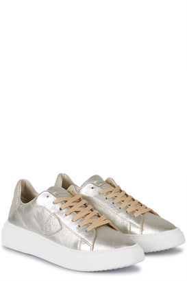 Sneakers Temple Femme LD Metal Glitter Platino