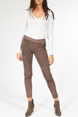 Leggings aus Veloursleder