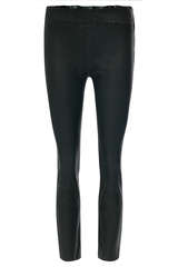 Highwaist-Leggings aus Lammnappa - STEVEN-K