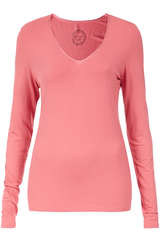 Basic-Langarmshirt aus Viskose-Stretch - BLOOM