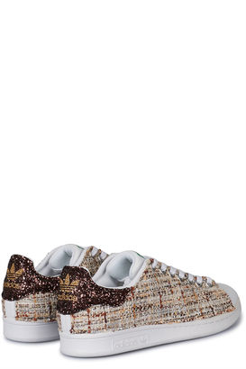 Sneakers Stan Smith mit Tweed und Glitzer