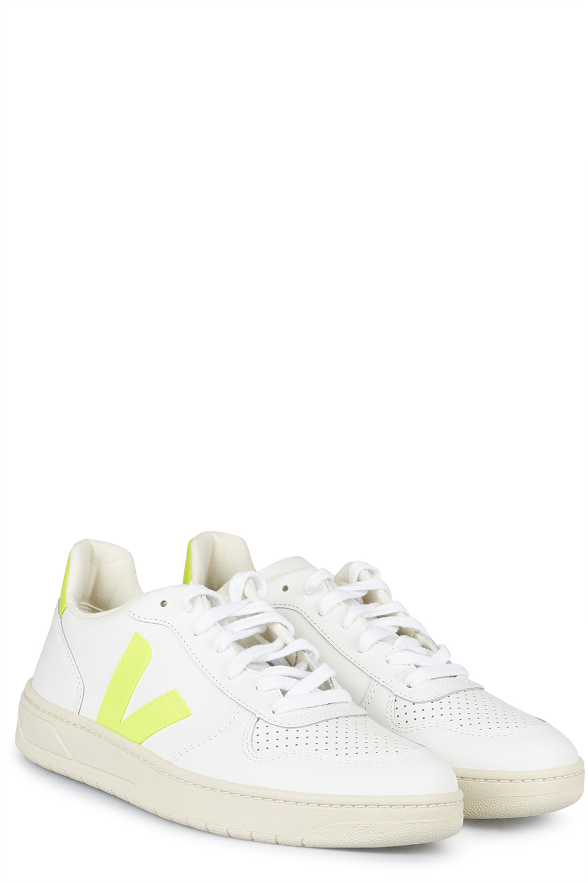 Sneakers V-10 Extra White Jaune Fluo