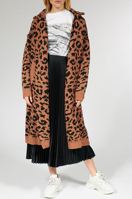 Long-Cardigan mit Wolle