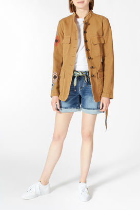 Field Jacket mit Stickerei