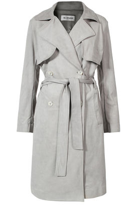 Trenchcoat aus Velours