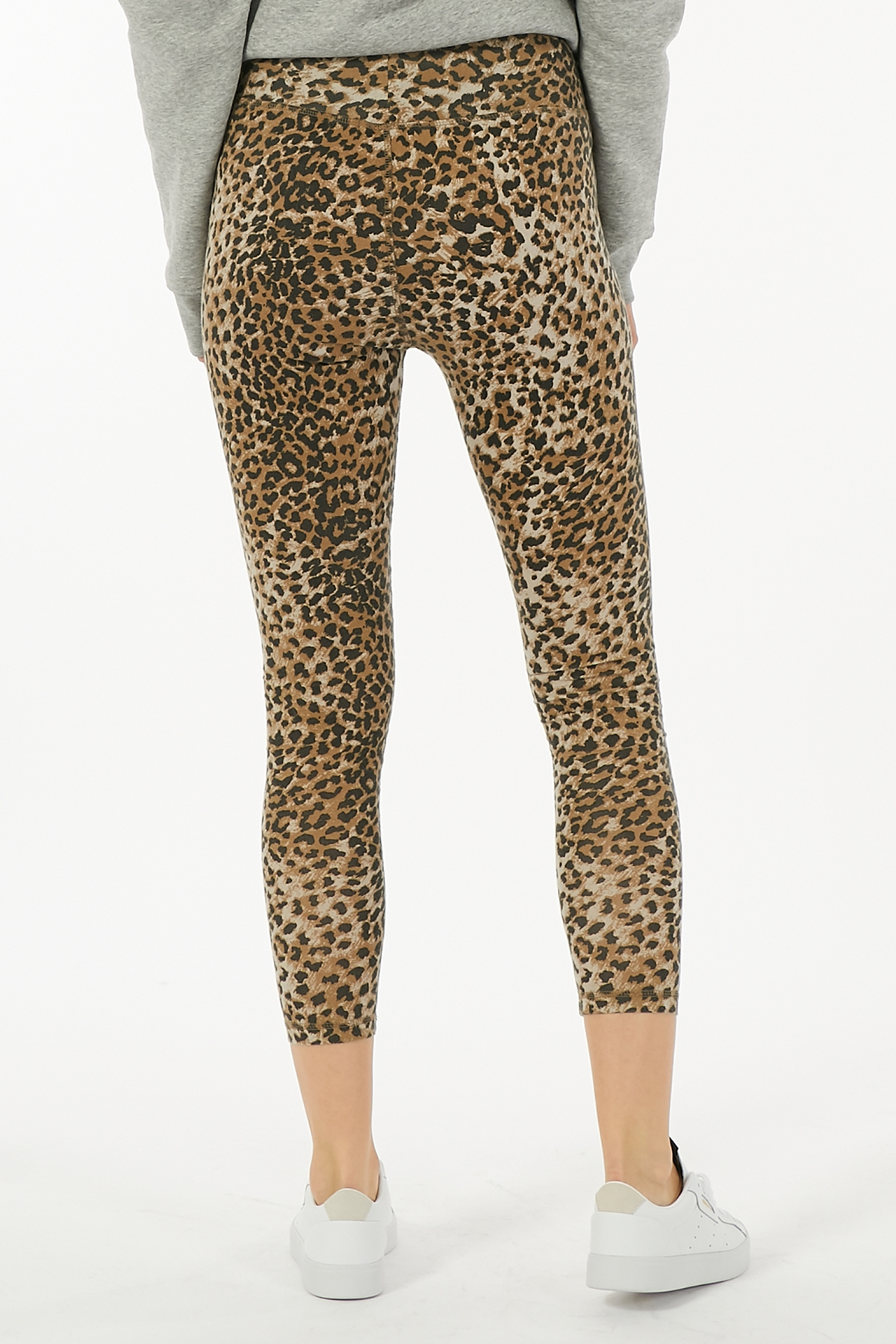 Leggings Leopard aus Baumwoll-Stretch