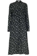 Midi-Kleid mit geraffter Taillenpartie - IVY & OAK