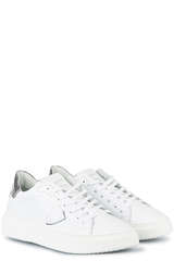 Sneakers Temple S Femme Veau Metal Phyton - PHILIPPE MODEL