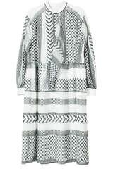 Midi-Kleid Dilani aus Chiffon - LALA BERLIN