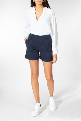 High-Waist Shorts Survival mit Baumwolle