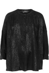Bluse aus Viskose mit Leomuster  - SET