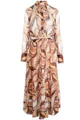 Maxi-Kleid aus Viskose Chiffon - BA&SH