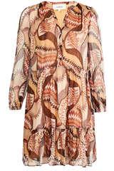 Kleid Twist aus Viskose mit Print - BA&SH