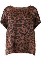 Satin-Shirt aus Viskose - JUVIA