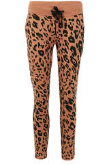 Sweathose mit Animal-Print