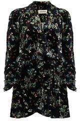 Mini-Kleid aus Samt mit floralem Muster - ZADIG & VOLTAIRE