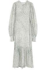 Kleid aus Seiden-Viskose-Devoré - LALA BERLIN