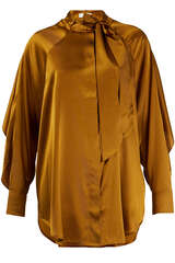 Bluse Bianka aus Seidensatin - LALA BERLIN