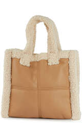 Tote Bag mit Faux Shearling - STAND STUDIO