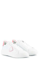 Sneakers Temple S Femme Veau Neon Blanc Fucsia - PHILIPPE MODEL