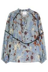 Bluse aus Seide mit eingefasster Borte  - IVI COLLECTION