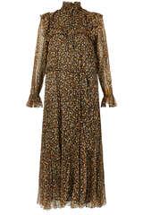 Kleid Oleana aus Seiden Chiffon - MASSCOB