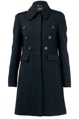 Mantel aus Wolle mit hohem Kragen - SET