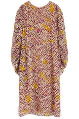 Kleid Doucie aus Seiden-Viskose-Devoré - LALA BERLIN