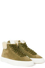 Shearling Sneakers aus Veloursleder  - CLOSED