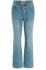 High-Waist Mom-Jeans Distressed Blue - WON HUNDRED