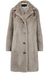 Fake Fur Mantel mit Reverskragen - OAKWOOD