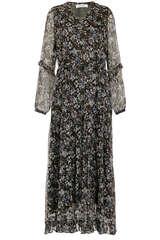 Midi-Kleid aus Seiden Chiffon mit Lurex - BLOOM
