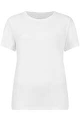 T-Shirt mit offenen Kanten am Ausschnitt - BLOOM