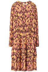 Mini-Kleid aus Viskosekrepp  - FLOWERS FOR FRIENDS