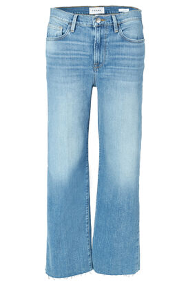 High-Rise-Jeans Le California Raw Edge