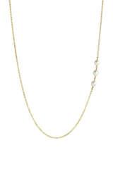 Vergoldete Halskette mit Perlen - MARIA BLACK