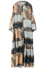 Hemdblusenkleid Lately aus Viskose und Seide - MUNTHE